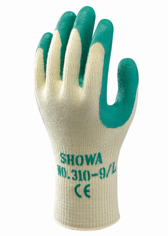 SHOWA 310 GROEN / GREEN GRIP
