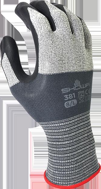 SHOWA 381 - Microvezel nitril handschoen